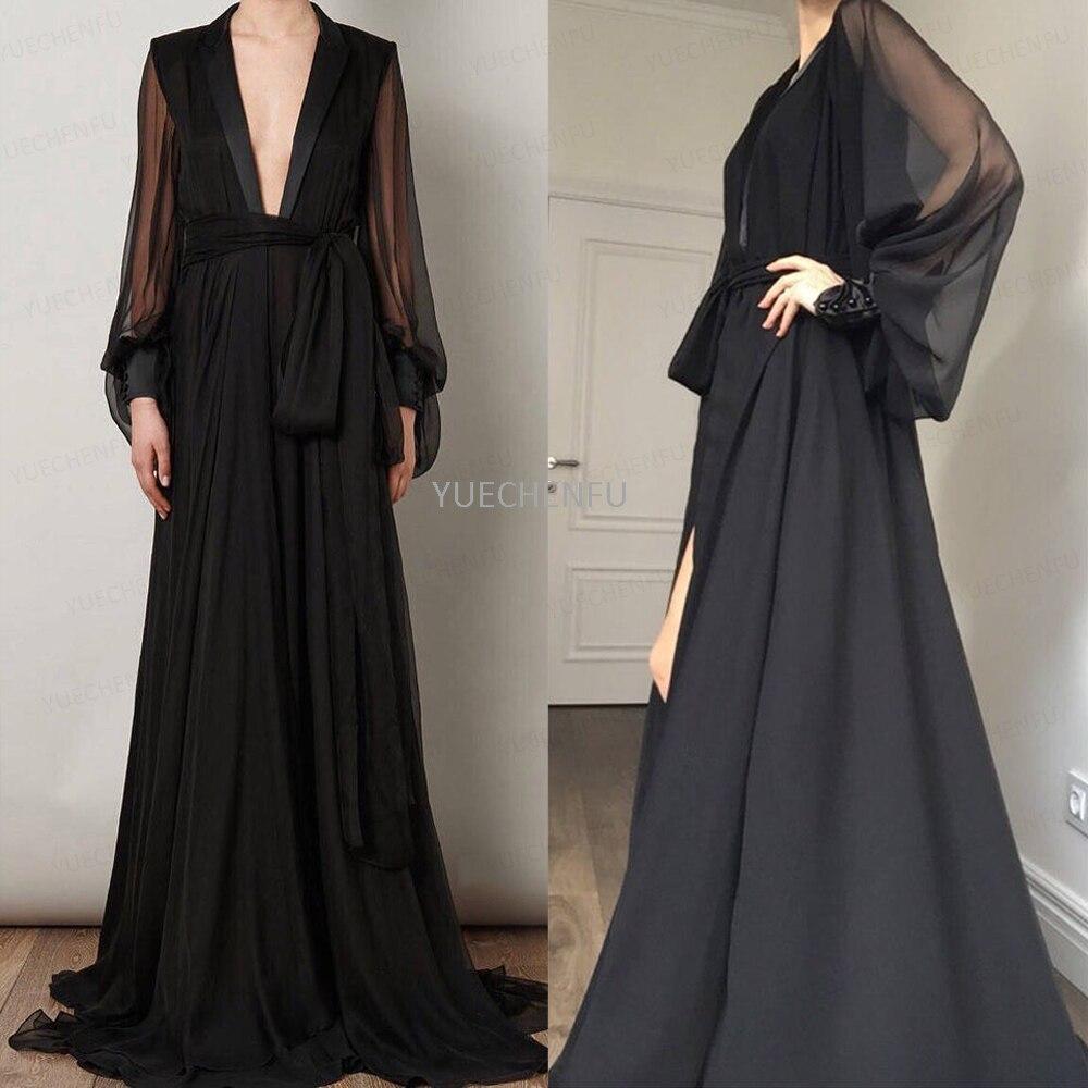 Women's Pajamas Chiffon Deep V Bathrobe Bride Robe Perspective Sheer Long Wedding Scarf Nightwear Photography Sleepwear