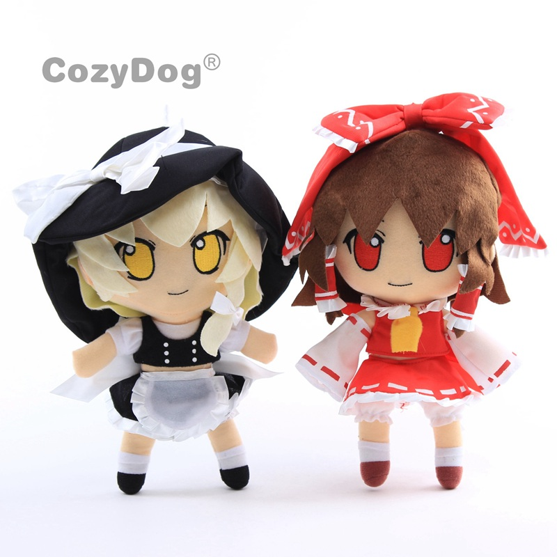 Anime TouHou Project Cosplay Kirisame Marisa Figure Plush Toy Hakurei Reimu Soft Dolls 11