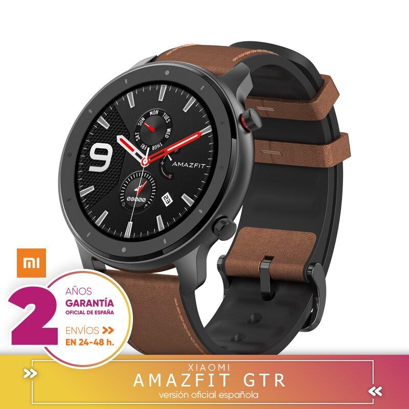 Montre intelligente Xiaomi Huami AMAZFIT GTR 69la Retina 5ATM GPS résistente al agua 47mm Versión global-Aleación de aluminio