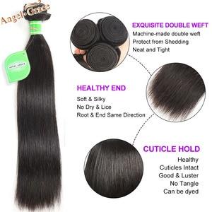 Image 2 - Angel Grace Hair Brazilian Straight Hair Bundles 1/3/4 Bundles 30 32 34 inch 100% Human Hair Weave Bundles Remy Hair Extensions