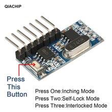 QIACHIP 433Mhz مستقبل ترددات لاسلكية رمز التعلم فك وحدة 433 mhz اللاسلكية 4 CH الناتج عن أجهزة التحكم عن بعد 1527 2262 الترميز