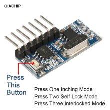 QIACHIP 433Mhz RF Receiver Learning Code Decoder Module 433 mhz Wireless 4 CH output For Remote Controls 1527 2262 encoding