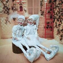 Elfos de natal de pelúcia elf boneca decoração de natal navidad presentes de ano novo crianças árvore pendurado ornamentos de natal crianças brinquedos