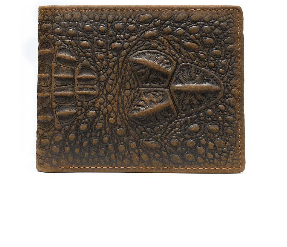 Men's Embossed Crocodile Short Wallet Hand Pocket Wallet Zipper Bag Case For Male's In Beautiful  Styles
