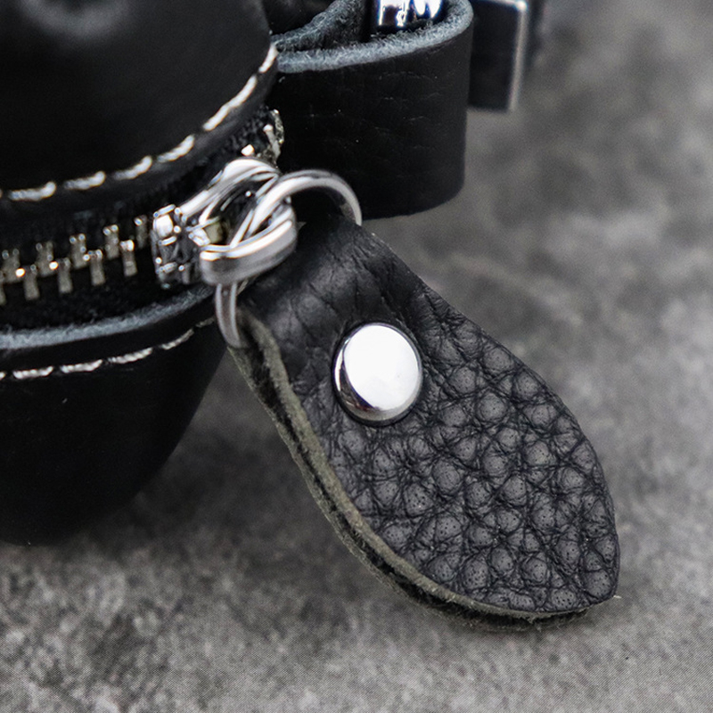 100% Genuine Leather Car Key Protection Case Men Keychain Coin Purse Casual Housekeeper Holders Zipper Key Covers Wallet Unisex