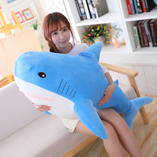 1 Pcs 35/80/100cm Big Size Funny Bite Soft Toy Shark Plush Toy Pillow Doll Appease Cushion Gift for Children Kid Baby Girl Gift high quality big size white shark plush doll 100% pp cotton shark plush stuffed pillow toy doll baby toy birthday gift baby gift