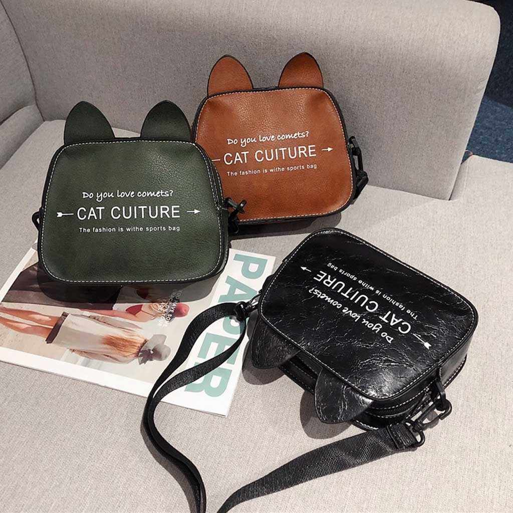 Aelicy Mode Marke Frauen Tasche PU Leder Ohr Brief Umhängetasche Designer Schulter Crossbody-tasche Damen Handtasche Bolso Mujer