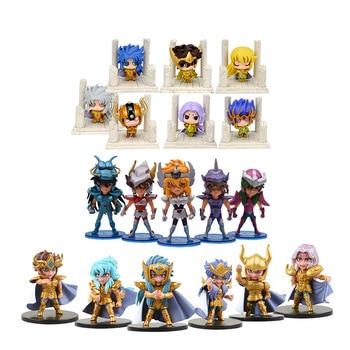 цена на 3 Styles Anime Saint Seiya Gold Saint Knights Of The Zodiac Action Figure PVC Figurine Collectible Model Christmas Gift Toy