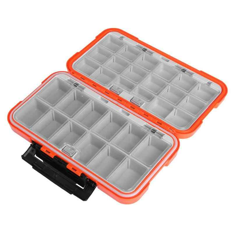 Compartment Double-sided 2 Tray Fishing Box Fishing Gear Storage Box Bait Box