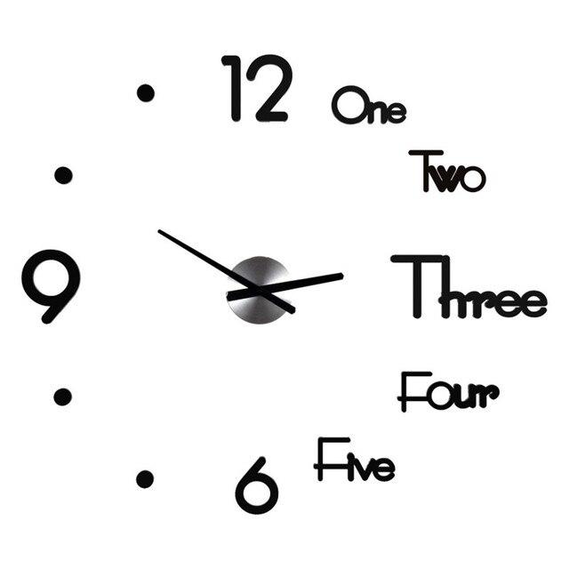 DIY Clock Acrylic Digital Wall Clock 3D Stereoscopic Silent Electronic Clock Modern Design Digital Self-Adhesive Art Decal Clock 4
