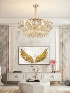 Image 3 - 크리스탈 샹들리에 거실 럭셔리 현대 빌라 간단한 크리 에이 티브 디자이너 미국 침실 식당 램프
