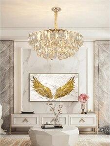 Image 3 - Crystal chandelier living room luxury modern villa simple creative designer American bedroom dining room lamps