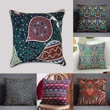 Environmental Printing Cushion Cover Cotton Canvas Sofa Bed print Pillowcase Office Nap Pillowcase For Decorative Slip Cover slogan print pillowcase cover 1pc