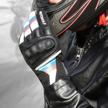 Gants de moto respirants en cuir pour hommes, pour écran tactile de course, pour Motocross, pour BMW, Suzuki, HONDA, Harley, Kawasaki