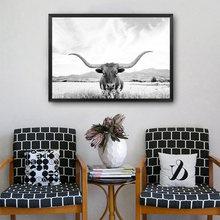 Плакат с изображением животных холст высокой коровы Черно Белая