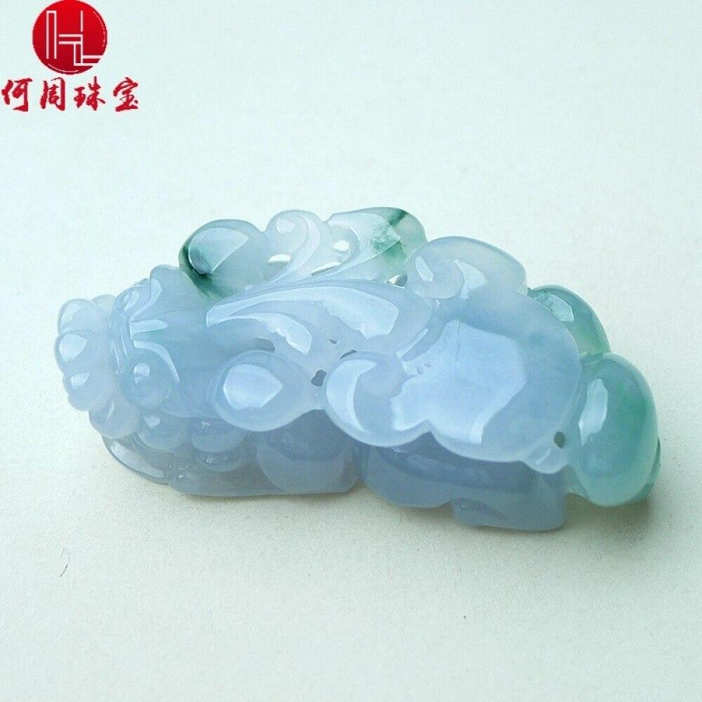 Hezhou jewelry!Myanmar natural jade!Exquisite hand carving!PI wild pendant!Exquisite workmanship!  28.81g 2