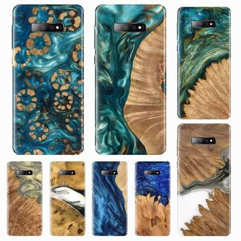 Luxury wood plastic art gold Phone Case For Samsung Galaxy S5 S6 S7 S8 S9 S10 S10e S20 edge plus lite image