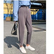 JUJULAND High Waist Straight Leg Pants Lyocell Womens Trousers Spring Office Lady Workear 7733