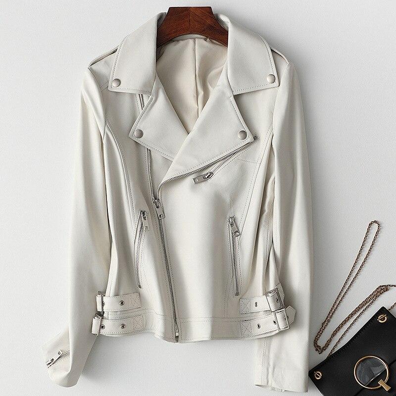 Oversize Real Leather Jackets Women Genuine Leather Coat Autumn Winter Sheepskin Coats New Grunge Style Womens Leather Jacket