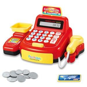 Image 2 - 어린이 척 놀이 슈퍼마켓 금전 등록기는 무게를 스캔 할 수 있습니다 소년과 소녀 시뮬레이션 스캐너 계산기 어린이를위한 플라스틱 장난감
