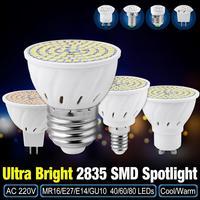 Bombilla LED E27 GU10 MR16 E14, lámpara de 4W, 6W, 8W, 2835 SMD, para interior, 220V, 40, 60, 80, 10 Uds.