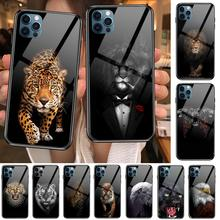 Luxury Black Shell Cover Wolf Lion tiger Animal  Anime Style Phone Case cover For iphone 12 pro max 11 8 7 6 s XR PLUS X XS  SE