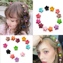 10pc/Lot Candy Color Small Flower Hair clip Children Colorful Super Cute Claw Clip Korean Pink Girl Headdress Wholesale Price(China)