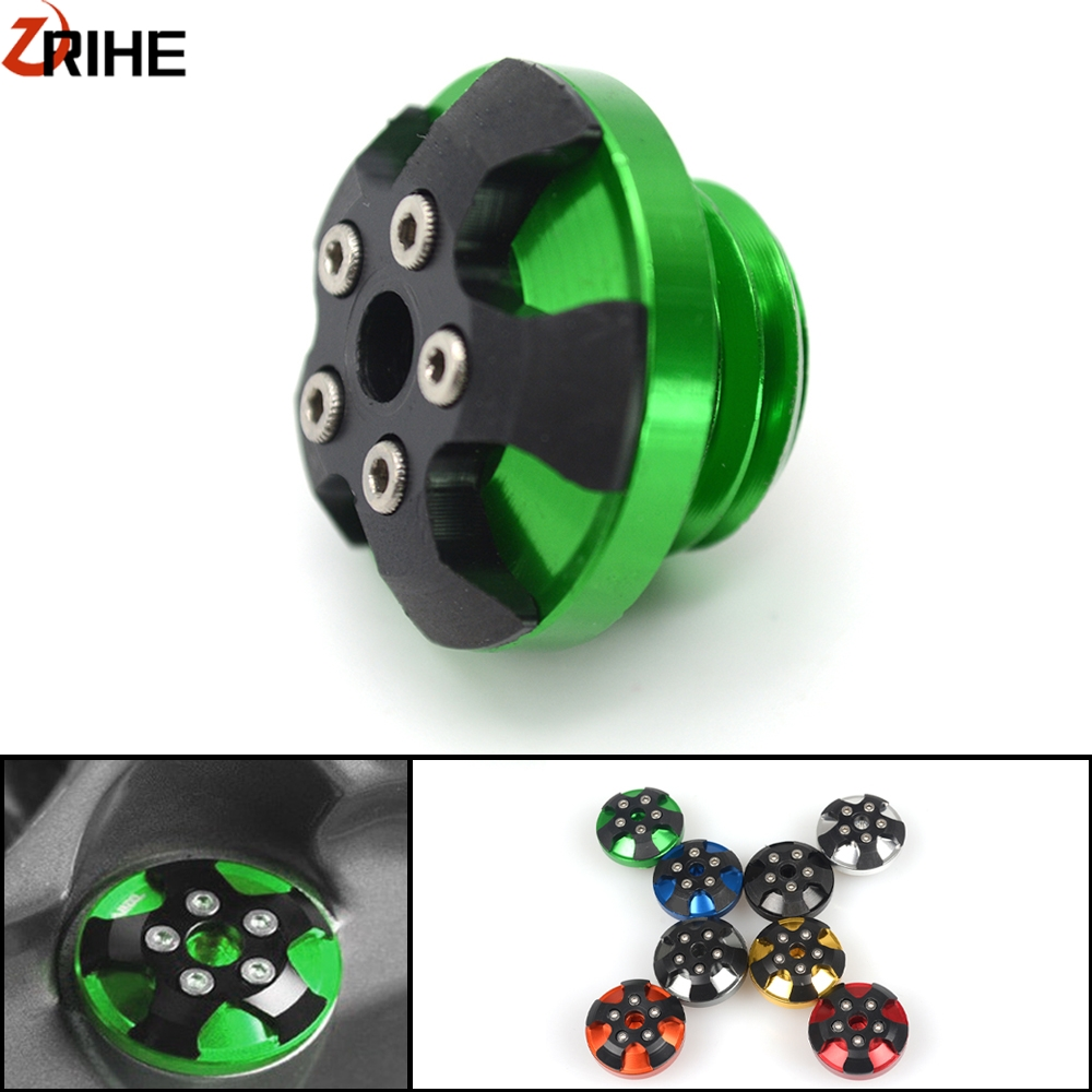 Motorcycle Aluminum Engine Oil Filter Cup Reservoir Plug Cover Screws For <font><b>Kawasaki</b></font> <font><b>Z</b></font> <font><b>900</b></font> Z900 2007-2017 2016 2015 2014 2013 2012 image