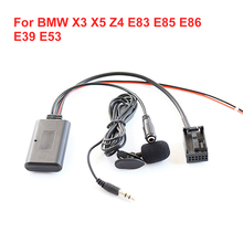 Hot New Model For BMW X3 X5 Z4 E83 E85 E86 E39 E53 FM Wireless Receiver Car Aux Auxiliary Line Adapter Fast Delivery