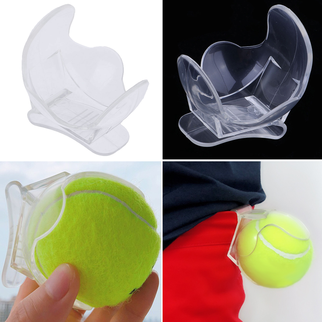 Tennis Ball Holder Clips On Pocket Waist Belt Band - Holds One Tennis Ball