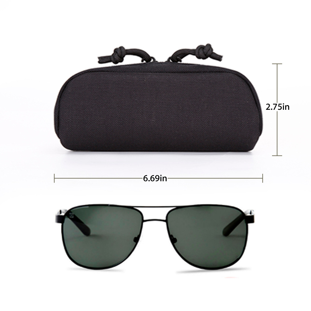 Tactical Nylon Hard Case Glasses Box With MOLLE System Protection Box Accessory Kit Mo Jing Dai Instrument Box