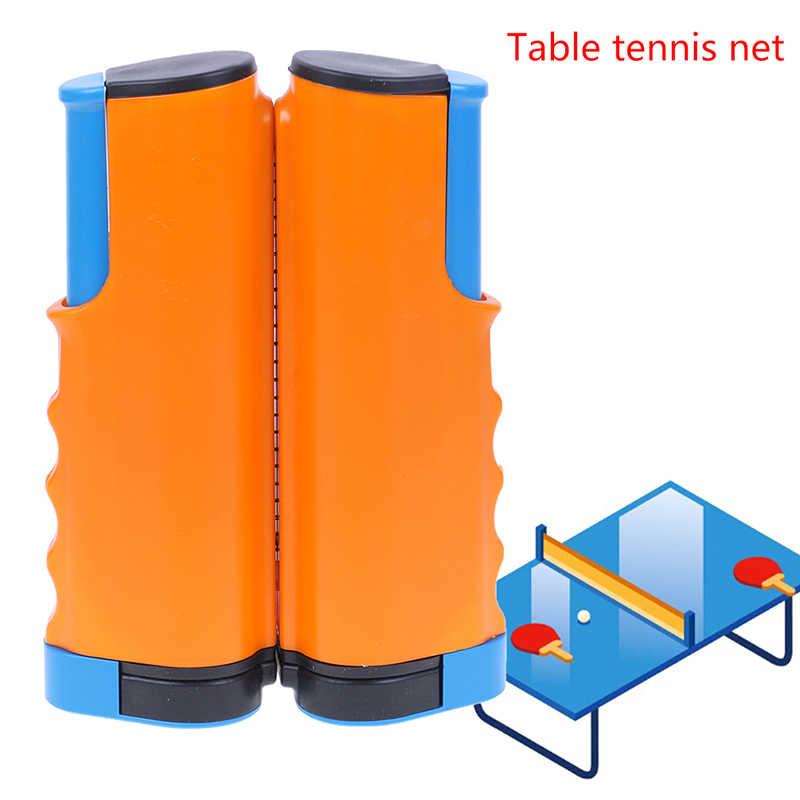 פלסטיק חזק רשת נטו נשלף שולחן טניס שולחן רשת נייד ערכת נטו נטו מתלה להחליף ערכת עבור פינג פונג משחק רשת