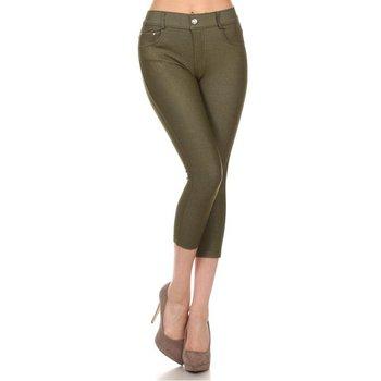 15 piezas mujeres niñas SolidColor Soft Skinny Pants Capri bambú fibra CoolMax seda