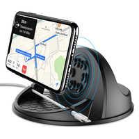 10W Veloce di Ricarica Senza Fili Caricabatteria Da Auto Per Samsung S9 Iphone X QI Wireless Caricabatteria Da Auto Mount Cruscotto Auto Del Telefono supporto