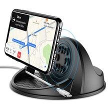 10W Hızlı Şarj Kablosuz araba şarjı Için S9 Iphone X QI Kablosuz Şarj araç tutucu Dashboard Araç telefon tutucu