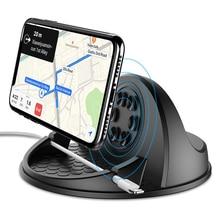 Carregador de carro sem fio de 10w para samsung s9, iphone x qi, carregador sem fio, painel de montagem do carro suporte
