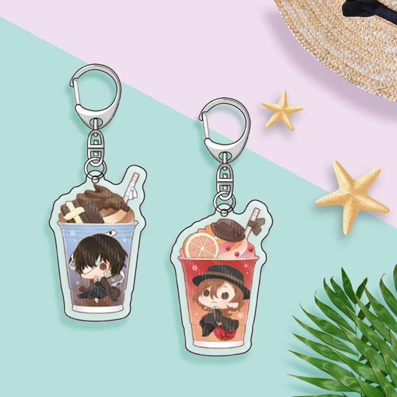 Bungo Zwerfhonden Sleutelhanger Dubbelzijdig Sleutelhanger Acryl Hanger Anime Accessoires