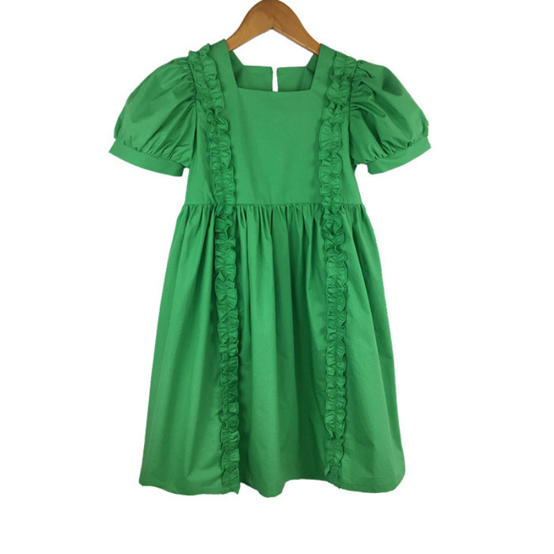 4 To 16 Years 2020 Summer New Girl Dress Kids Princess Dress Baby Cotton Dress Children Cute Dress Toddler Ruched Clothes, #8452