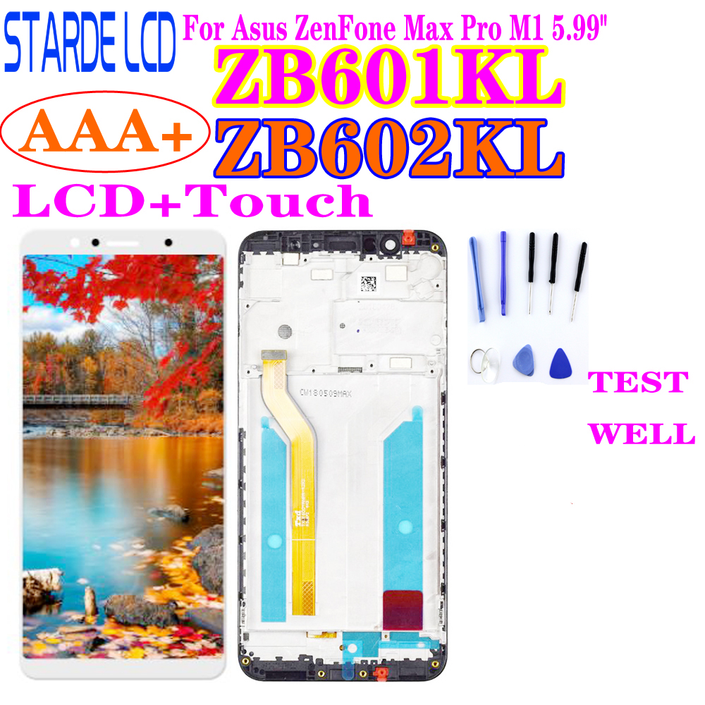 AAA+ For Asus ZenFone Max Pro (M1) ZB601KL ZB602KL LCD Display Touch Screen Panel Digitizer Assembly With Frame