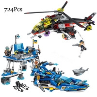 Models Building Toy 2720 724Pcs High Tech Era Harbour Fighting Building Blocks Compatible with lego Toys & Hobbies For Children