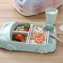 Детская посуда форма автомобиля чаша чашки тарелки контейнеры для детского питания детские бамбуковые волокна тренировочные блюда детские наборы для кормления