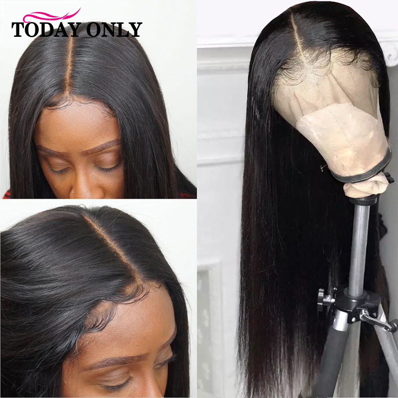 Malaysian Straight Lace Front Human Hair Wigs For Women 13x4 Lace Front Wigs Pre Plucked Ombre 613 Blonde Lace Front Wig Remy image