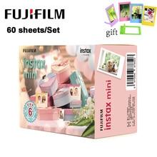 60 feuilles/ensemble Fujifilm Instax Mini Film caméra instantanée bord blanc papier Photo pour Instax Mini LiPlay 9 8 7s 25 70 90 SP 2 appareil Photo