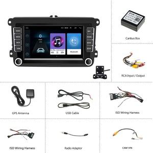 "Image 5 - Podofo 7 ""Android Auto Multimedia Speler 2 Din Wifi Gps Navigatie Autoradio Voor Skoda Vw Passat B6 Polo Golf 4 5 Touran Seat Fm"