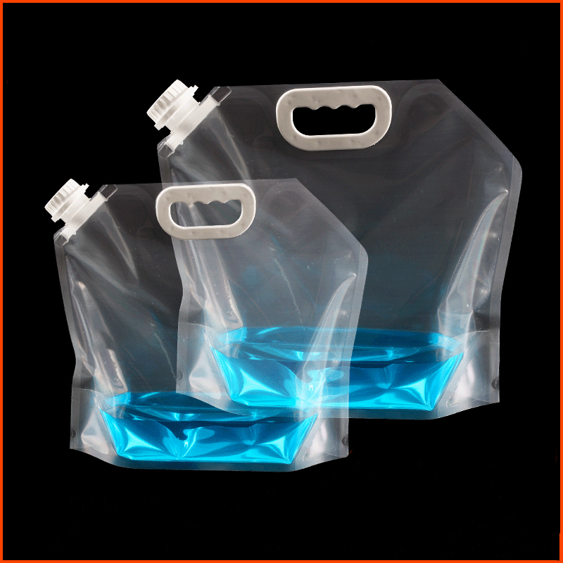 3/5/10/15L Folding Water Bag Canister PE Tasteless Safety Seal Lightweight Drinking Water Storage Bags For Camping Hiking Picnic
