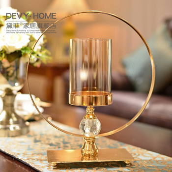 Nordic Creative Glass Candle Stand Gold Candle Holder Wedding Candlestick Table Ornaments Decor Bougeoir Christmas Gifts FC258