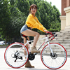 700c aluminum alloy road bike 21 27 and 30 speed road bicycle double disc brake road bike Ultra-light bicycle 3
