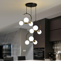 Nordic lampe G9 led Moderne Anhänger Lichter für Wohnzimmer Restaurant Schlafzimmer Glas ball Anhänger Lampen AC85-260V lampara colgante