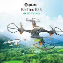 Eachine E38 WiFi FPV with 480P Dual  Camera Drone Aerial Video Altitude Hold Mode Portable Aircraft RC Quadrocopter Drones Toys