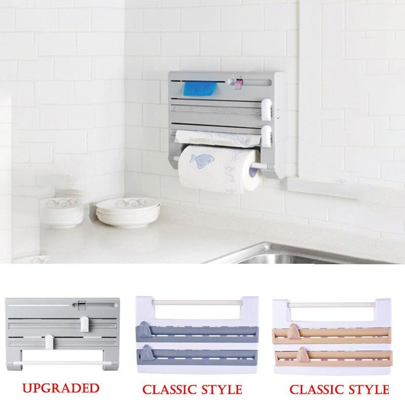 Настенный бумажный полотенцесушитель для салфеток, держатель для консервантов, органайзер для хранения фольги для кухни, ванной комнаты